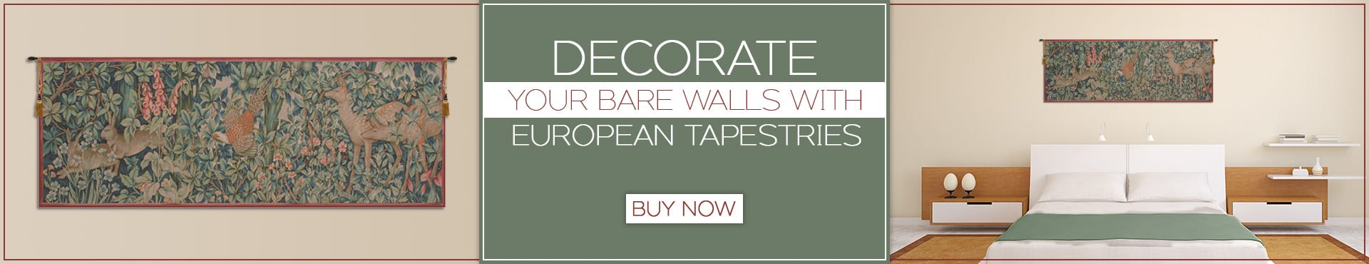Decorate Your Bare Walls with European Tapestries
