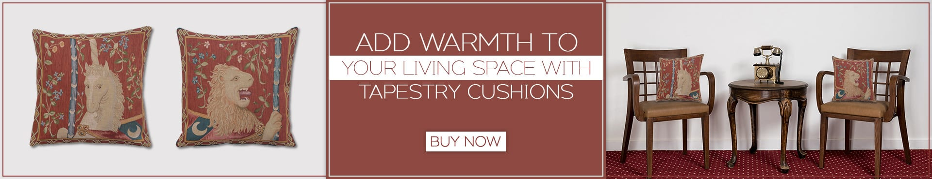Add Warmth to Your Living Space with tapestry Cushions