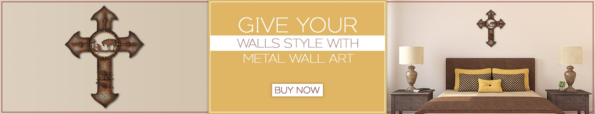 Give your walls style with metal wall art